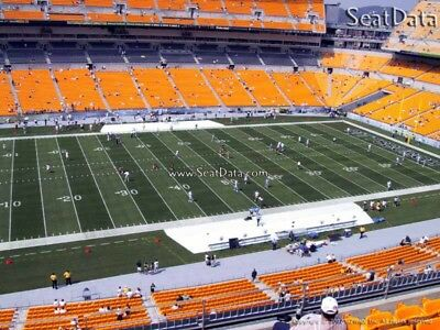 (2) Steelers 1st Preseason Home Game Tickets 20 Yard Line Under Cover!!
