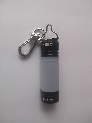 Nebo 6557 Poplite Compact Mini Magnetic Red//Black//Silver//Pink Keychain Light