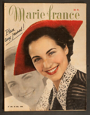 'marie-France' French Vintage Magazine 26 December 1949