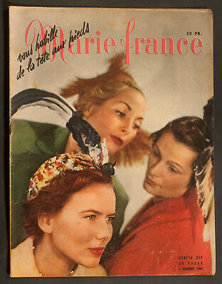 'marie-France' French Vintage Magazine 7 November 1949
