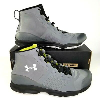 Under Armour Mens UA Speedfit Hike Mid Hiking Boots Size 10 Trail Sneaker Gray