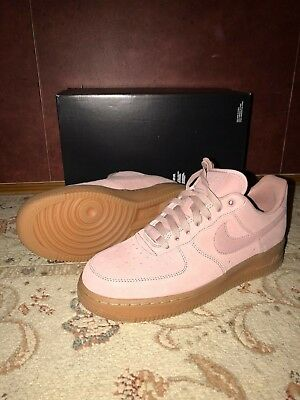 NIKE AIR FORCE 1  07 LV8 Suede Particle Pink Gum AA1117-600 Men s ... 94261eccd
