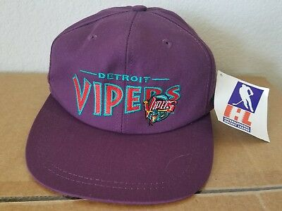 Vintage NEW IHL DETROIT VIPERS Baseball Hat Cap Kid's Youth Child Size