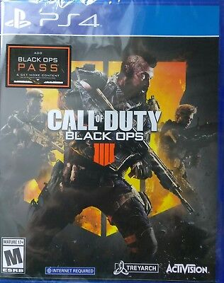 Brand NEW Call of Duty: Black Ops 4 (PlayStation 4, 2018) Sealed Free shipping