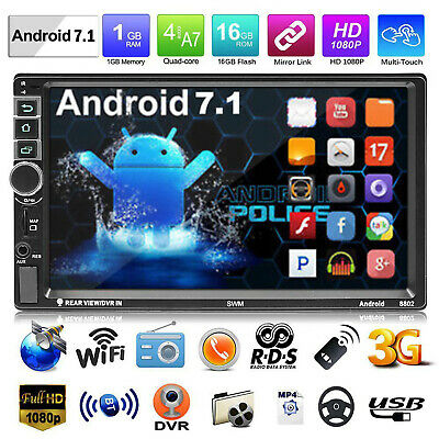 SWM 8802 2DIN Android 7.1 Car MP5 Player GPS BT RDS AM FM Radio with Map C#P5