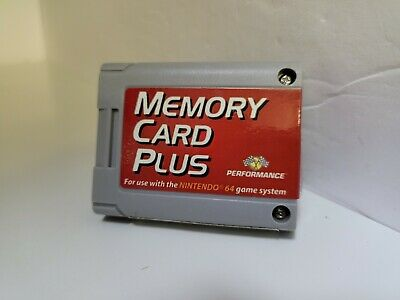 Never Used Tested Memory Card Plus 1024K 492 Blocks  For N64 Nintendo 64 A7