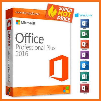 🔥 Microsoft Office 2016 Professional Plus 🔐 Official Download & Key- 32/64 Bit
