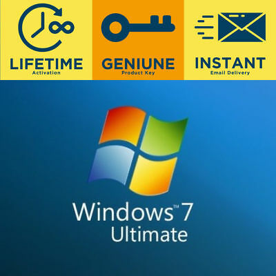 🔥 Windows 7 Ultimate 32 64 Bit 🔐 Genuine License Key Product activation key