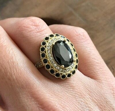 Turkish Handmade Jewelry Sterling Silver 925 Onyx Ring Ladies 7 8 9