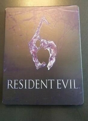 Used-  RESIDENT EVIL 6 collector edition steelbook  RARE  -NO GAME/DISC- see pic