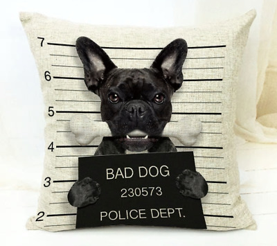 FRENCH BULLDOG GIFTS Cushion Cover / Pencil or Cosmetic Case / Fun Gift Present