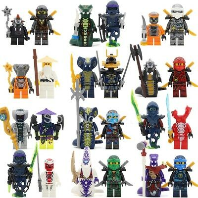 mini-figurines Set - 24x Custom Ninja fits LEGO® NINJAGO®