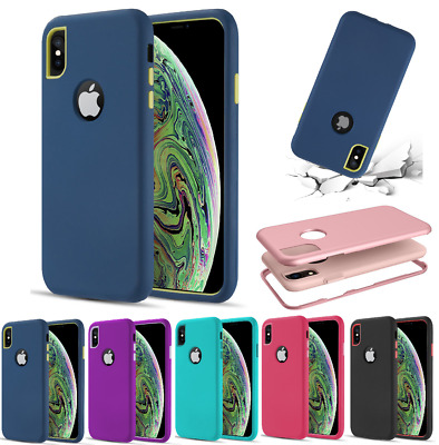 For iPhone XR XS Max X 8 7 6 Plus Protective Heavy Duty Hybrid Rugged Case