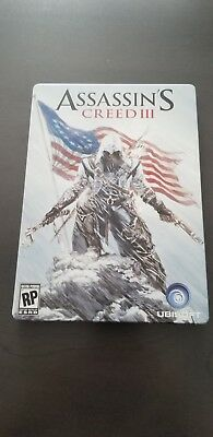 Assassin's creed 3 limited  edition steelbook  RARE -NO GAME/DISC