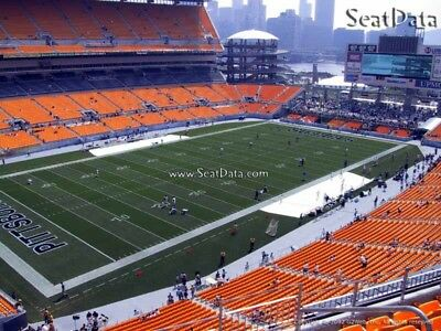 (2) Steelers 2nd Preseason Home Game Tickets Upper Level Sidelines Aisle Seats!!