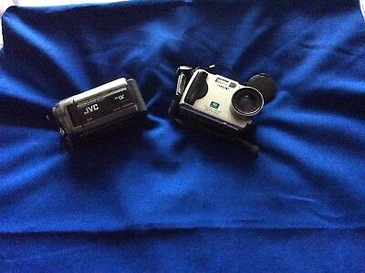 jvc camcorder and a Sony Digital Camara complete with Carrying case Now Reduced