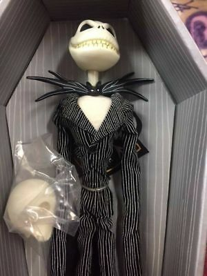 864055b66506e Nightmare Before Christmas Jack Skellington Doll Grey Coffin Evil Grin  Shock NBX