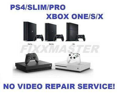 Broken PS4/Xbox One/S/X White Light/No Video/HDMI Encoder IC/HDD Repair Service!