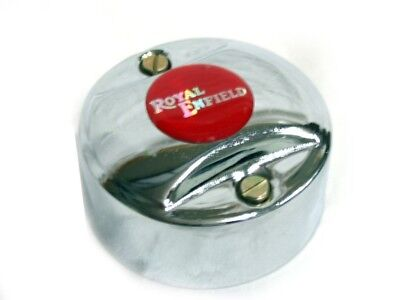 Royal Enfield Point Distributor Cover Cap Re Logo Chrome Finish