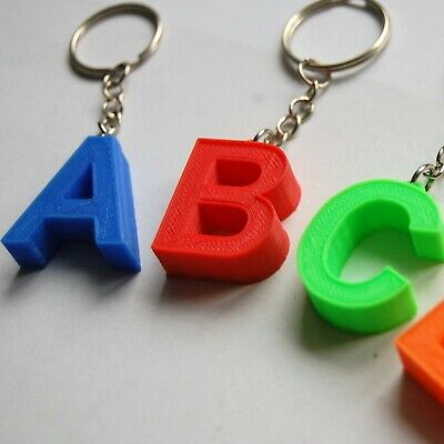 Initial Letter Keyring - Novelty Alphabet A-Z Keychain Charm Tag Name Party Gift