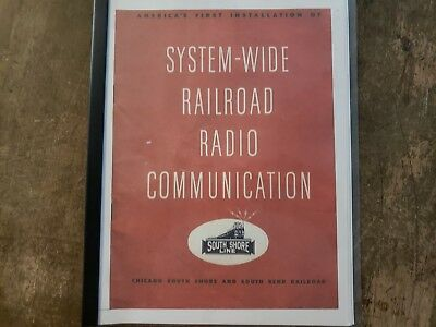 south shore railroad radio communication manual from 1949 extremely rare!!!!!
