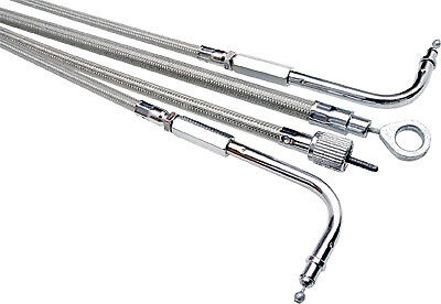 NEW MOTION PRO 66-0371 Armor Coat Stainless Steel Idle Cable with Cruise Control