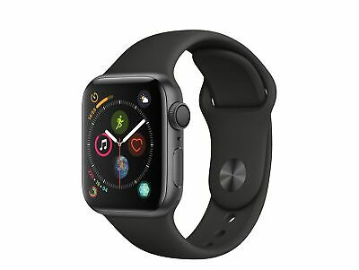 Apple Watch Series 4, 40 mm, Aluminiumgehäuse space grau, Sportarmband schwarz