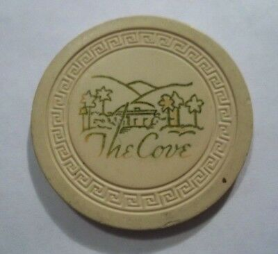 The Cove Palm Springs Ca Poker Chip Obsolete Authentic Vintage Old