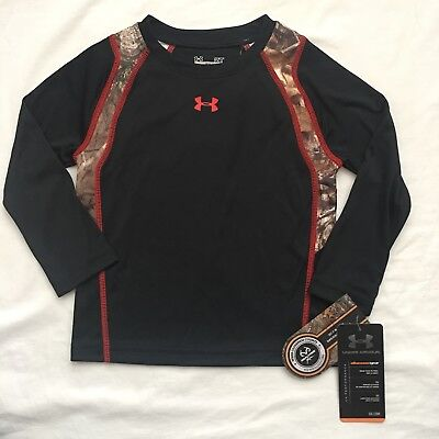Under Armour Long Sleeved Shirt Size 2T, Boys, Black Camo Athletic, Gift