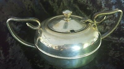 Empire Plate EPNS A1 Silverware Vintage Sugar Server. Retro.