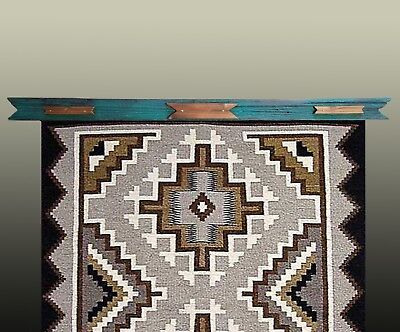 """Quilt Hangers,""""Brown on Green"""",Will hold 21.5 inch Quilts or Rugs.Can Customize!"""