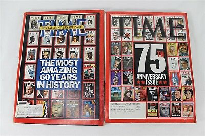 Time Magazine 60th & 75th Anniversary Issues March 9, 1998 & 1983 Special Issues