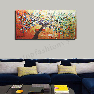 Modern HD Abstract Oil Painting Print Canvas Tree Large Wall Art Decor No
