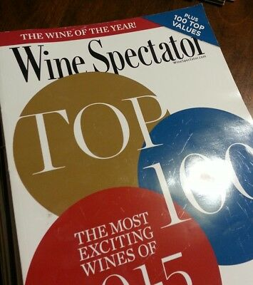 VGC Wine Spectator magazine lot 16 total issues 2016 + 40th anniversary issue