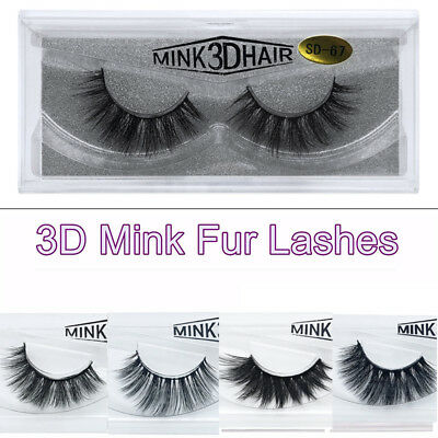 3D Natural False Eyelashes Soft Fake Lash Set Long Thick Eye Lashes Mink Makeup
