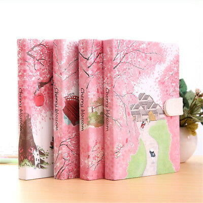 Pink Diary Notebook Lined Paper Pocket Planner Hard Cover Journal Writing