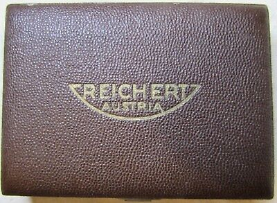 Reichert Austria Shagreen Microscope Accessory Box Circa 1900 Unbelievably Rare