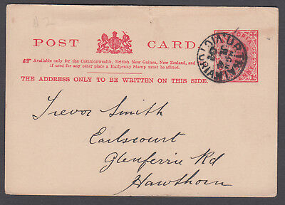 Victoria TPO - 1904 Postcard cancelled TPO11-Up1 (rated S)