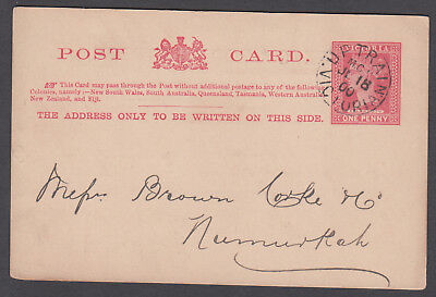 Victoria TPO - 1900 Postcard cancelled TPO11-Up1 (rated S)