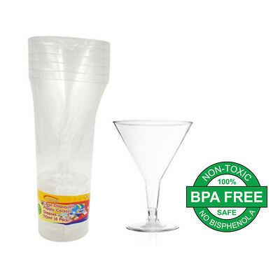 110Ml Clear Disposable Party Plastic Clear Cocktail Martini Glass Cups Bulk Buy