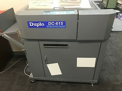 Duplo Dc 615 Card cutter slitter creaser used