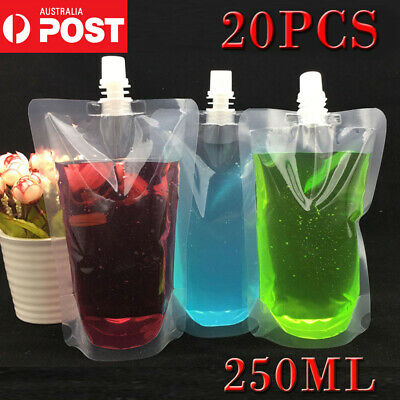 10PCS 250ml Concealable Plastic Pocket Flask Cruise Drink Alcohol OZ