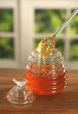 Honey Pot Server with Dipper Homewares Decor Kitchen Serveware Gift Party New