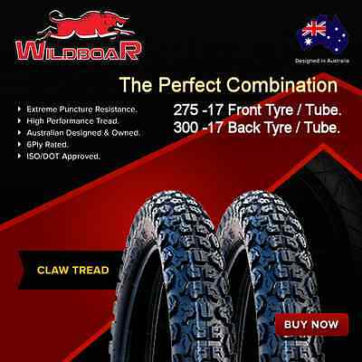 Motorcycle Tyre Tire Tube Combo 275-17 300-17 Tyres Tubes Claw Tread Combo