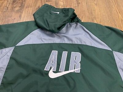 8bff44743da Nike Air Vintage 90s Big Swoosh Windbreaker Jacket 2XL Spell Out Embroidered