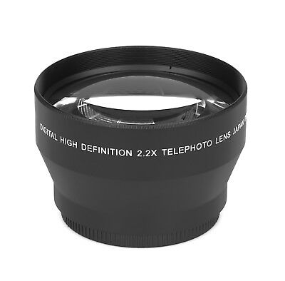 2.2x - 62mm HD Tele Ancillary Lens Real Glass Branded Optics Resolution