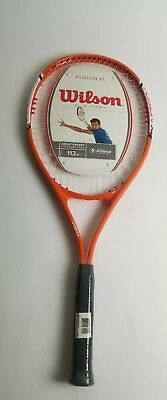 Wilson Fusion XL Tennis Racket Oversized Head 112 in. Orange Couple Scratches