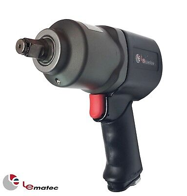 1/2 inch Air Impact Wrench Gun 660 ft/lbs LEMATEC Pneumatic Tool Heavy Duty Made