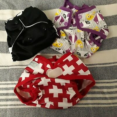 Rumparooz and Nicki's Cloth Pocket Diaper and Covers, Lot of 3
