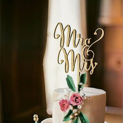 Mr and Mrs Rustic Wedding Cake Topper Laser Cut Wood Letters Wedding Party Decor